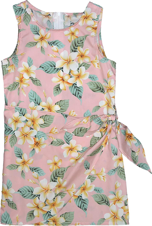 RJC Girl's Yellow Plumeria Sarong Dress