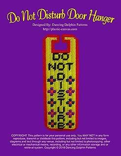 Do Not Disturb Door Hanger: Plastic Canvas Pattern