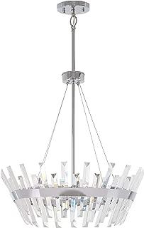 Minka Lavery Crystal Pendant Ceiling Lighting 4816-77 Echo Radiance, 6-Light 360 Watts, Chrome
