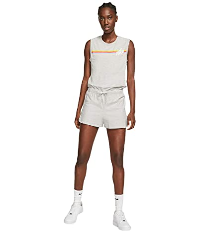 Nike NSW Print Romper Graphic (Grey Heather/Night Silver/White) Women