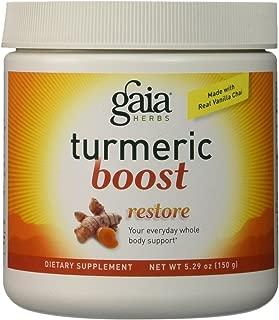 Gaia Herbs Turmeric Boost Restore Supplement, 5.29 Ounce - Healthy Inflammatory Response, Prebiotic Blend, No Added Sugar