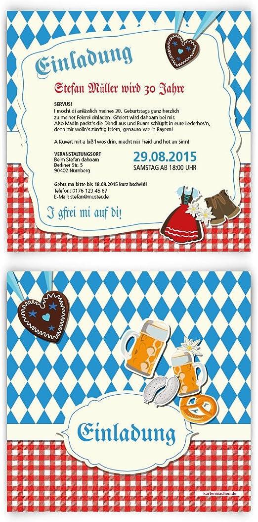 Huttengaudi Klappkarte Motiv Einladung Oktoberfest 13