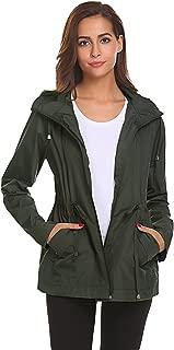 ICENN Women Waterproof Light Weight Rain Coat Rain Jacket Ladies Removable Hood Ladies Jackets Ideal Outdoor Windbreaker