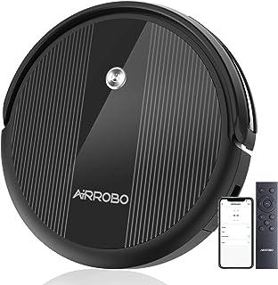 ロボット掃除機 2600Pa 超強力吸引 ロボットクリーナー お掃除ロボット WiFi アプリ対応 Alexa 静音 140分間連続 薄型 自動充電 落下防止 衝突防止 ペットの毛に効果 自動掃除機 AIRROBO P10 ブラック