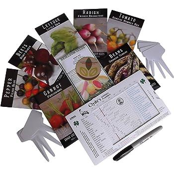 Baker Creek Heirloom Vegetable Seeds 2020 for Planting Home Garden Variety Pack with Planting Guide Kit - Tomato, Lettuce, Carrot, Peppers, Radish, Peas, Beet, Bush Bean