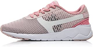 LI-NING Women's Heather Sports Life Light Walking Shoes Lining Leisure Breathable Soft Mesh Sneakers AGCM054