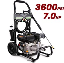 Oveloxe 3600PSI Gas Pressure Washer, Gas Powered Power Washer with 212cc Engine and 5 Spray Tips