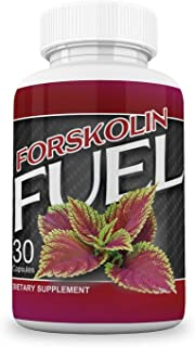 Fuel Forskolin Maximum Strength Fat Burner and Metabolism Support all Natural, Pure, Potent Ingredients with Coleus Forskohlii Safe Weight Loss Supplement for Women and Men 30 Capsules