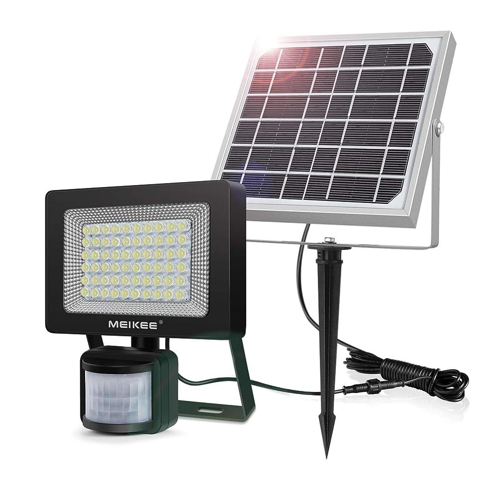 拍車精神的に議論するMEIKEE 何度改良版ソーラー 人感 センサーライト400LM 6000K 60個LED 防犯ライトや防犯 屋外 玄関灯に 昼白色