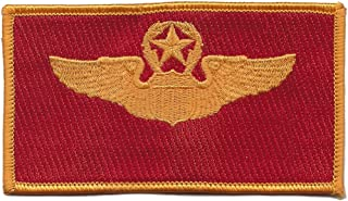Command Pilot Wings Patch Red And Gold