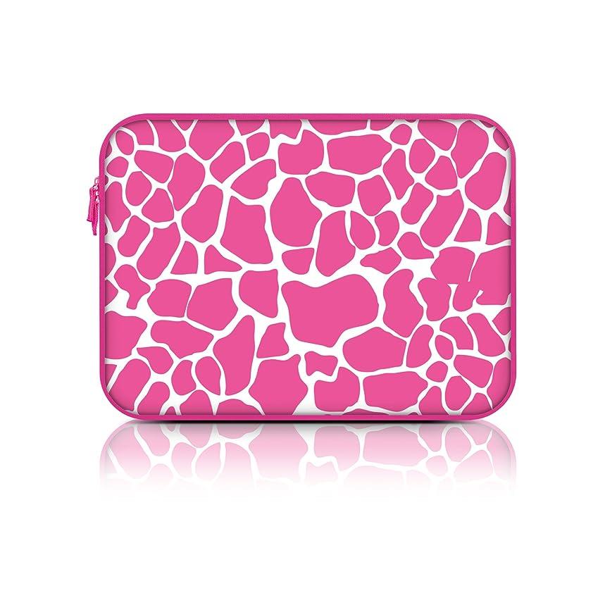 Macbeth Collection Neoprene Zipper Fashion Laptop Sleeve (15.6 Inch, Pink Giraffe)