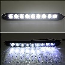 Qiilu 1Pair Car Daytime Running Light DRL LED Daylight Fog Lamp para 6 06-09
