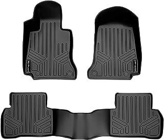 SMARTLINER Custom Fit Floor Mats 2 Row Liner Set Black for 2015-2020 Mercedes Benz C Class Sedan Only