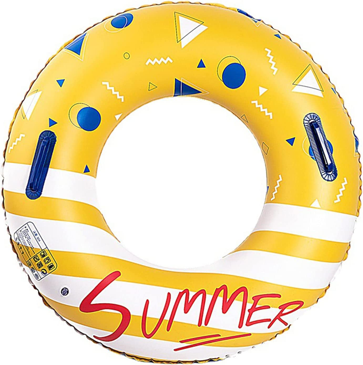 """Daily bargain sale Inflatable 32.28"""" Swim Ring Stripe Floating Letter Sw Print Luxury"""