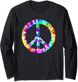 Tye Dye Peace Sign Long Sleeve T-Shirt