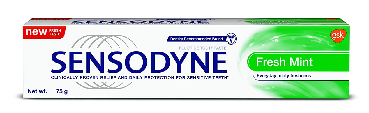 幾分小競り合い市の花Sensodyne Sensitive Toothpaste Fresh Mint - 70gm