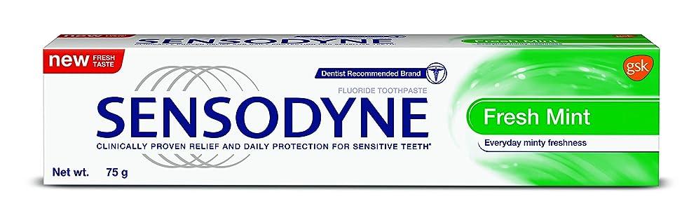 バウンス予見する重要Sensodyne Sensitive Toothpaste Fresh Mint - 70gm