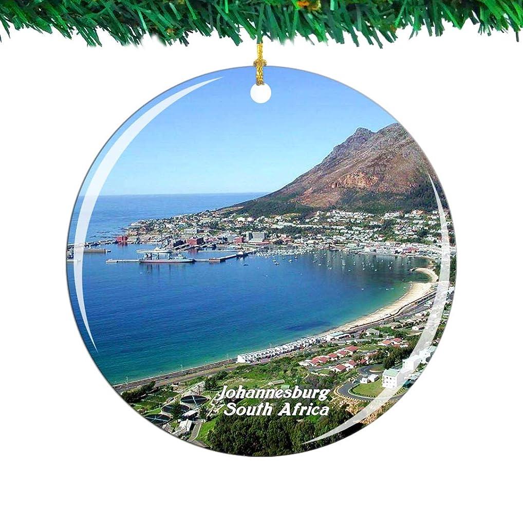 同情的バイオリンバンドWeekino 南アフリカヨハネスブルグクリスマスオーナメントシティ旅行お土産コレクション両面 磁器2.85インチ ぶら下がっている木の装飾