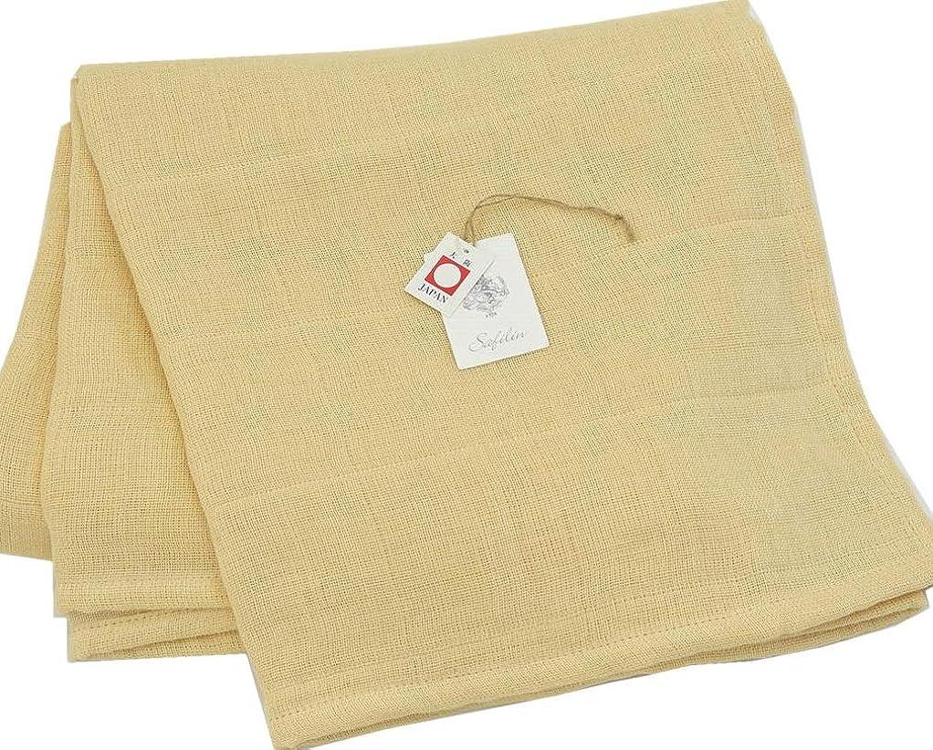 一人でカードレバー公式 三井毛織 シルク 絹と 麻 フランスリネンの リバーシブルガーゼケット 公式製品 ダブルサイズ 夏用 日本製