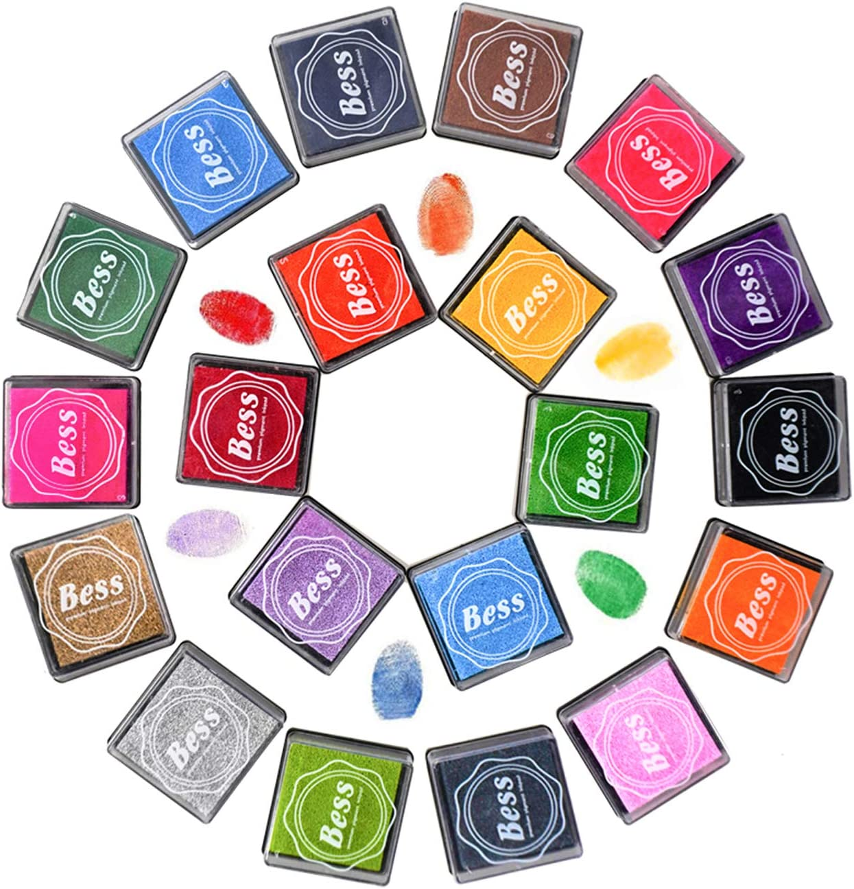 WeLiu Craft Ink Pad Stamps 20 List free price Washable Finger Colors Rainbow