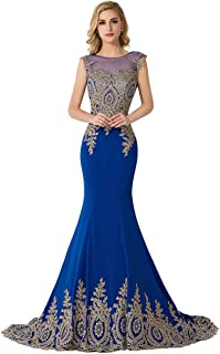 blue gold gown