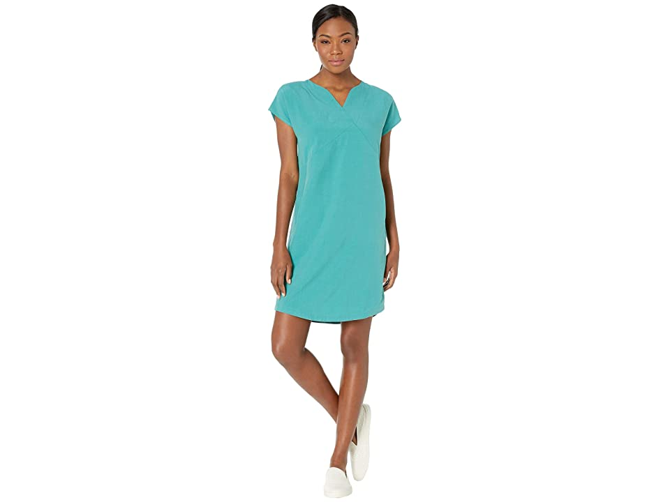 NAU Flaxible Short Sleeve Mod Dress (Jade) Women