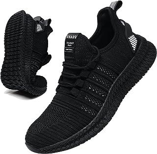 کفش ورزشی مردانه VNANV کفش ورزشی مردانه لغزش روی کفش تنیس مردانه پیاده روی گاه به گاه کفش مشکی ورزش بدنسازی کفش لاستیکی تنفسی