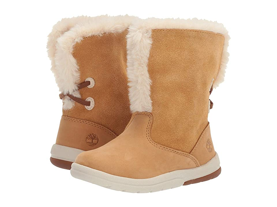 Timberland Kids Toddle Tracks Faux Shearling Bootie (Toddler/Little Kid) (Wheat Nubuck) Kids Shoes