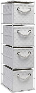 ARPAN - Armario de Almacenamiento con 4 cajones Color Blanco Ideal para el hogar Oficina Dormitorio Unidad de 18 x 25...