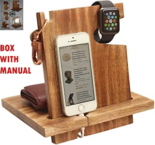Shop Happy Holiday – Wooden Docking Station, Personalized Nightstand Organizer Cell Phone Stand 50th for Couple, Funny, 6s Plus, 6s, 6 Plus, 6, 5, 5s Made Wood