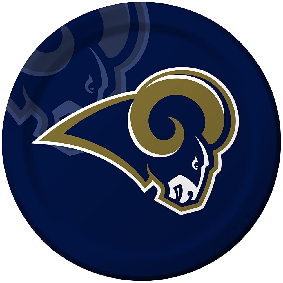 Creative Converting 8 Count St. Louis Rams Paper Dinner Plates