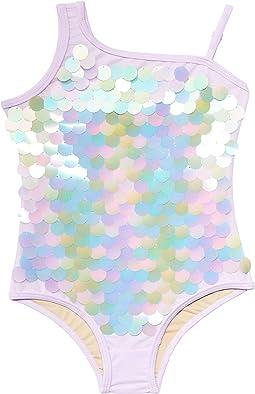 Magical Mermaid Shoulder Tie-Dye Paillettes (Toddler/Little Kids)