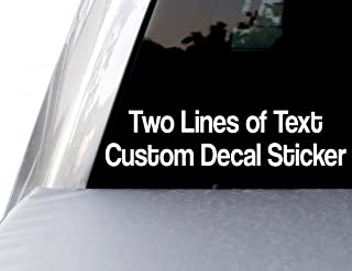 Custom Personalized Text Decal Two Line Bumper Sticker for Car Windows, Boats, RV, Coolers, Mailbox, and Laptops (25 Color...