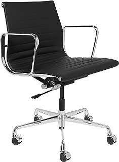 SOHO Premier Ribbed Management Chair (Ribbed, Black)