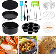 11pcs 7 In Air Fryer Accessories for Gowise Phillips and Cozyna,Universal Air Fryer Accessories Kit Include Non Stick Cake...