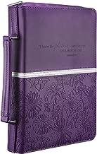 Floral Embossed Bible / Book Cover - Jeremiah 29:11 (Medium, Purple)