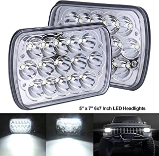 BAOLICY 7x6 5x7 Led Headlights, XJ Headlights, Jeep Wrangler Headlights, H6054 H6054LL 69822 H5054 for GMC YJ with Rectangle
