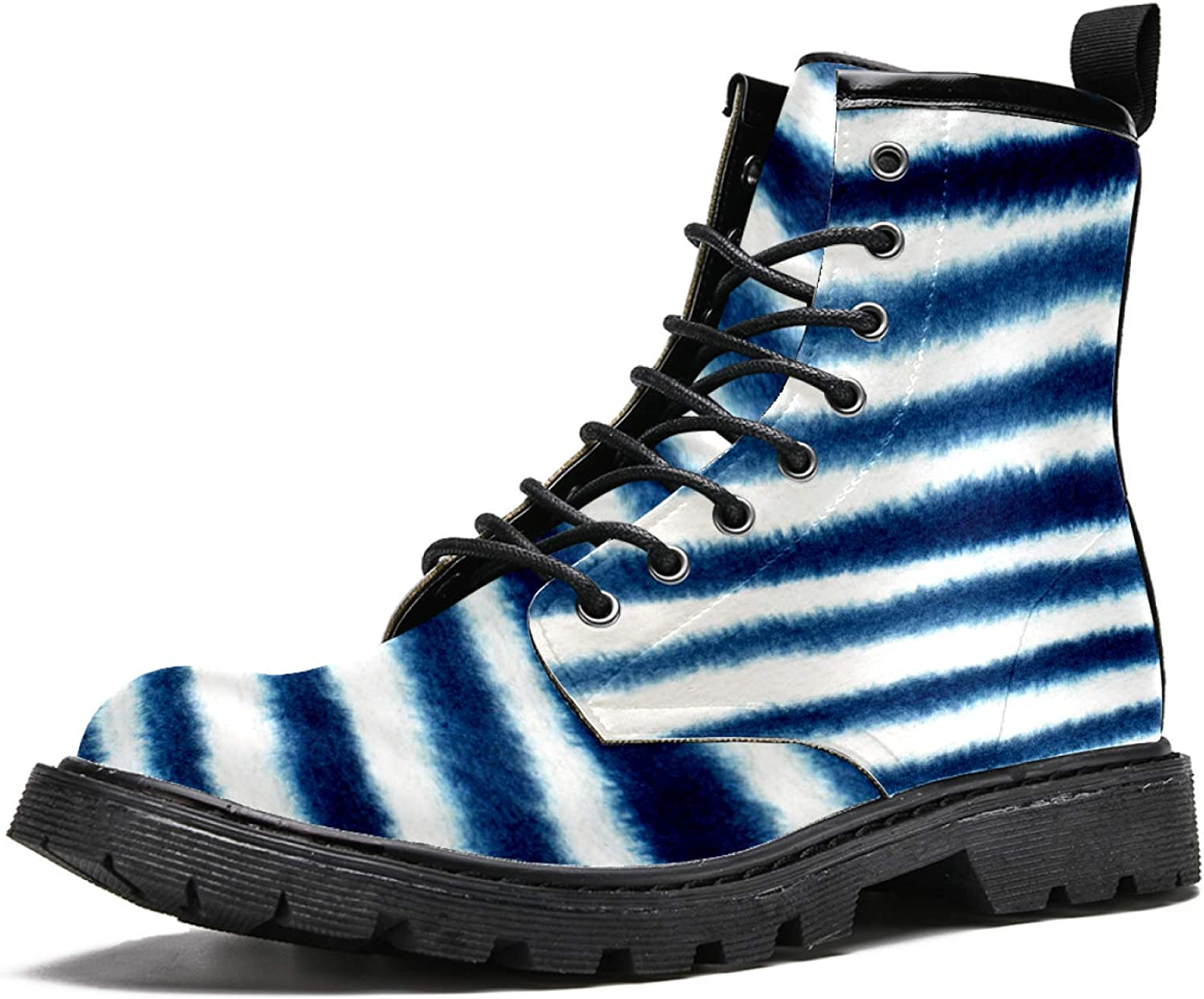 Oklahoma City Mall Womens Boots Outdoor Non Slip Boot Casual Stripes Max 84% OFF Blue