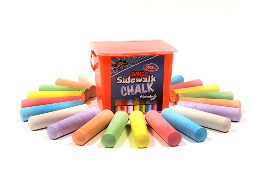 Regal Games Chalk City - 20 Piece Jumbo Washable Sidewalk Chalk