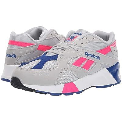 Reebok Lifestyle Aztrek (Grey/Pink/Royal/White/Black) Athletic Shoes