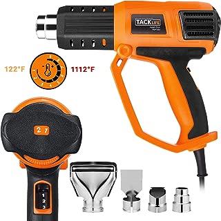 Heat Gun, 1500W Hot Air Gun Kit, 122℉-1112℉(50℃ -600℃), 9-Dial Temperature Settings, 3 Air Flow rates and 4 Nozzles, Heat Gun for Stripping Paint, Shrinking PVC - HGP74AC