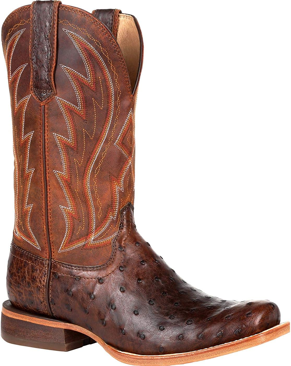 Durango Fixed price for sale Premium Exotic Full-Quill Boot Ostrich Chestnut 5 ☆ very popular Western