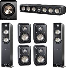 Polk Audio Signature 7.1 System with 2 S50 Tower Speaker, 1 Polk S35 Center Speaker, 4 Polk S10 Bookshelf Speaker, 1 BIC/Acoustech Platinum Series PL-200 Subwoofer