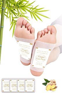 Foot Pads | Ginger Foot Pads for Your Good Feet | Foot and Body Care | Apply, Sleep & Feel Better | All Natural & Premium ...