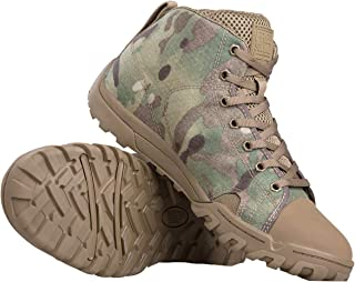FREE SOLDIER Men`s Tactical Boots Ankle Boots Lightweight Breathable Military Boots Strong Grip Camo Combat Boots for Work…