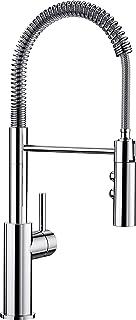 BLANCO CATRIS-S - Semiprofessionelle, ausziehbare Küchenarmatur mit flexiblem Auslauf und Edelstahlspirale - Hochdruck - mit Zweistrahlbrause - Chrom - 521476