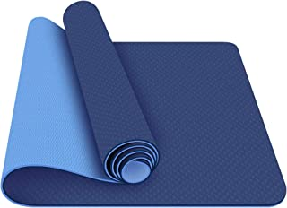 0dian Yoga Mat - Classic 1/4 inch Pro Yoga Mat Eco Friendly Non Slip Fitness Exercise Mat with Carrying Strap-Workout Mat ...