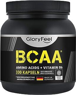 BCAA 330 Kapslar - Essentiella Aminosyror Leucin, Valin och Isoleucin + Vitamin B6 - laboratorietestade och tillverkade i ...
