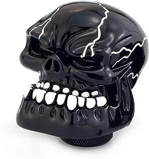 Thruifo Skull Gear Stick Shift Knob, Big Teeth Devil Head Shape MT Car Shifter Fit Most Manual Automatic Vehicles, Black