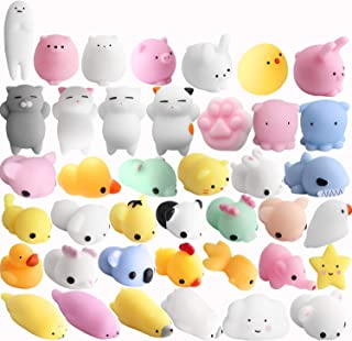 Outee 32 Pcs Mini Squishies Mochi Animals Mochi Squishies Cat Stress Toy Random Squishies Squeeze Toy Squishies Cat Relief Stress Squishies Toy Animals Mochi Squishies Squeeze Animals